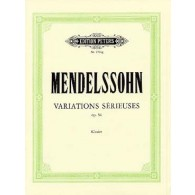 MENDELSSOHN F. VARIATIONS SERIEUSES IN D MINOR PIANO