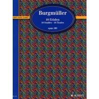 BURGMULLER F. ETUDES OP 109 PIANO