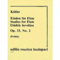 KOHLER E. ETUDES OP 33 VOL 2 FLUTE