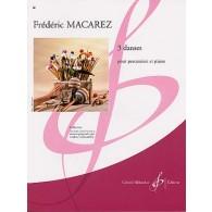 MACAREZ F. 3 DANSES PERCUSSION