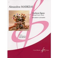 MARKEAS A. QUELQUES LIGNES PERCUSSION