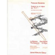 DEVIENNE F. QUATUOR UT MAJEUR OP 73 N°1 BASSON