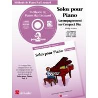 HAL LEONARD LES SOLOS POUR PIANO VOL 2