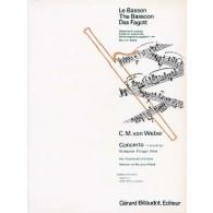 WEBER C.M. CONCERTO FA MAJEUR BASSON