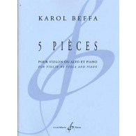 BEFFA K. PIECES VIOLON OU ALTO