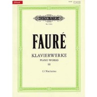 FAURE G. 13 NOCTURNES PIANO