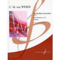 WEBER C.M. GRAND DUO CONCERTANT OP 48 CLARINETTE