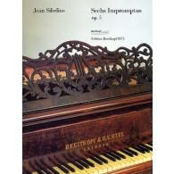 SIBELIUS J. IMPROMPTUS OP 5 PIANO
