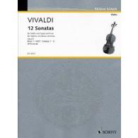 VIVALDI A. 12 SONATES OP 2 VOL 1 VIOLON