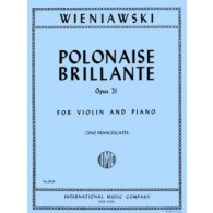 WIENIAWSKI H. POLONAISE BRILLANTE OP 21 VIOLON