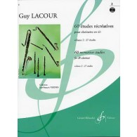 LACOUR G. 60 ETUDES RECREATIVES VOL 2 CLARINETTE
