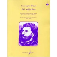 BIZET G. 20 MELODIES VOL 1 CHANT