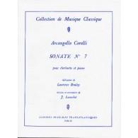 CORELLI A. SONATE N°7 CLARINETTE