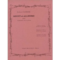 CLERISSE R. RECIT ET ALLEGRO CLARINETTE
