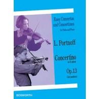 PORTNOFF L. CONCERTINO OP 13 VIOLON