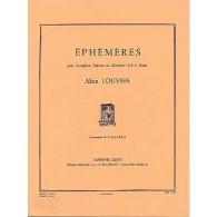 LOUVIER A. EPHEMERES CLARINETTE OU SAXOPHONE SOPRANO