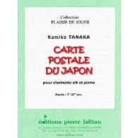 TANAKA K. CARTE POSTALE DU JAPON CLARINETTE SIB