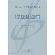 STRASNOY O. 3 ETUDES DE LATINITE PIANO