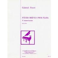 FAURE G. IMPROVISATION OP 84 N°5 PIANO