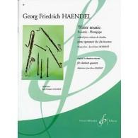HAENDEL G.F. WATER MUSIC CLARINETTES