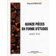 PROUST P. PIECES EN FORME D'ETUDES COR