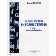 PROUST P. PIECES EN FORME D'ETUDES TUBA
