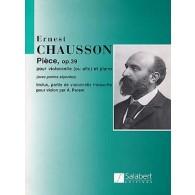 CHAUSSON E. PIECE OP 39 VIOLONCELLE