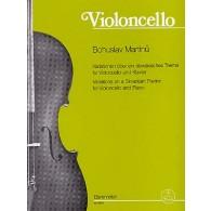 MARTINU B. VARIATIONS SUR UN THEME SLOVAQUE VIOLONCELLE