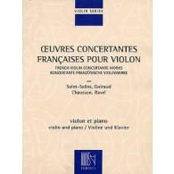 OEUVRES CONCERTANTES FRANCAISES VIOLON