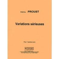 PROUST P. VARIATIONS SERIEUSES HAUTBOIS
