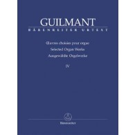 GUILMANT A. OEUVRES D'ORGUE VOL 4 ORGUE