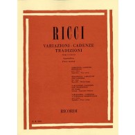 RICCI VARIATIONS CADENCES TRADITIONS VOL 1 CHANT MIXTE