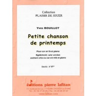 BOUILLOT Y. PETITE CHANSON DE PRINTEMPS SAXHORN ALTO OU COR