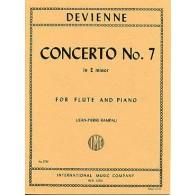 DEVIENNE F. CONCERTO N°7 E MINOR FLUTE