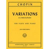 CHOPIN F. VARIATIONS SUR UN THEME DE ROSSINI FLUTE