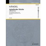 HAENDEL G.F. AYLESFORDER STUCKE FLUTE ALTO