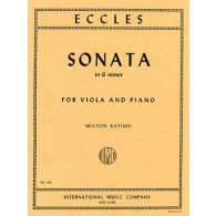 ECCLES H. SONATE EN SOL MINEUR ALTO