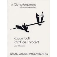BALLIF C. CHANT DE L'INNOCENT FLUTE