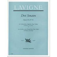 LAVIGNE P. 6 SONATES OP 2 VOL 2 FLUTE ALTO