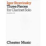 STRAVINSKY I. 3 PIECES CLARINETTE