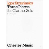STRAVINSKY I. 3 PIECES CLARINETTE