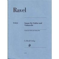 RAVEL M. SONATE VIOLON ET CELLO