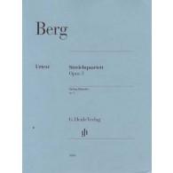 BERG A. STRING QUARTET OP 3