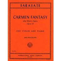 SARASATE P. CARMEN FANTASY OP 25 VIOLON