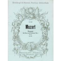MOZART W.A. CONCERTO K 495 COR, HAUTBOIS ET CORDES PARTITION DE POCHE
