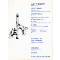 DANICAN-PHILIDOR A. PIECES FLUTE A BEC