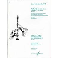 BACH J.S. SONATE BWV 1033 FLUTE A BEC