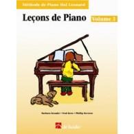HAL LEONARD LECONS DE PIANO VOL 3 + CD
