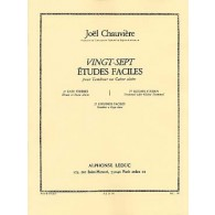 CHAUVIERE J. ETUDES FACILES VOL 1 TAMBOUR OU CAISSE CLAIRE