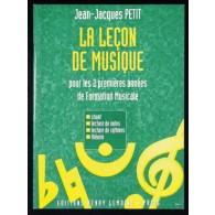 PETIT J.J. LA LECON DE MUSIQUE VOL 1